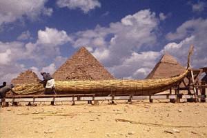 Строительство лодки в древнем Египте