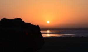Восход над озером Баскунчак